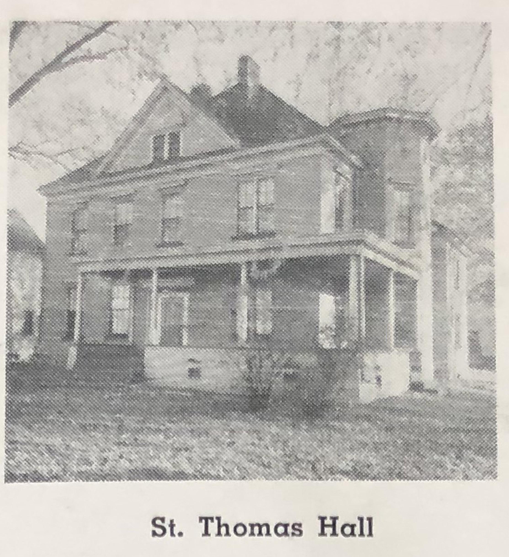 St. Thomas Hall, originally on parish grounds.