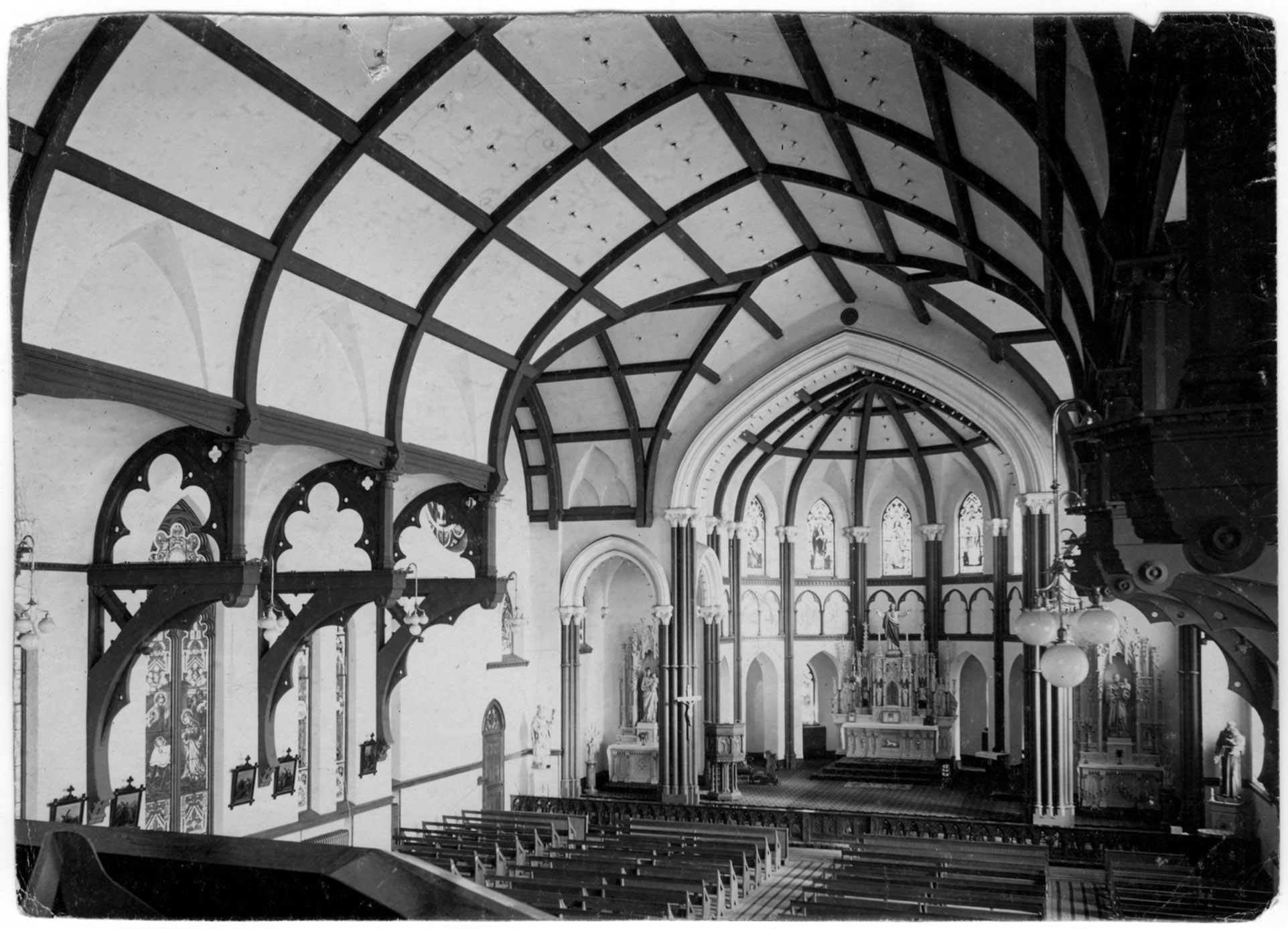 Interior, immediately after construction was complete.
