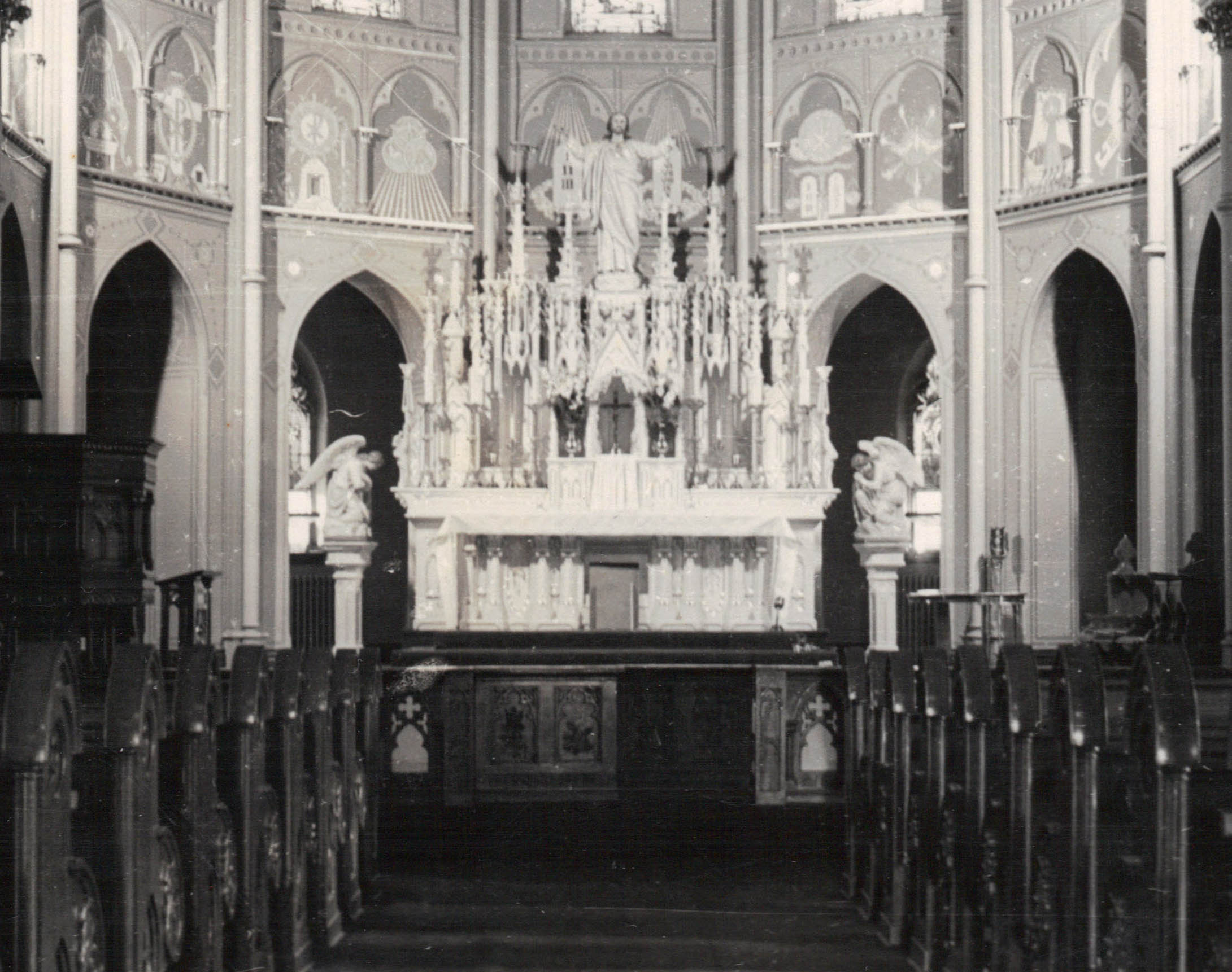Sanctuary, shortly after painting was completed.