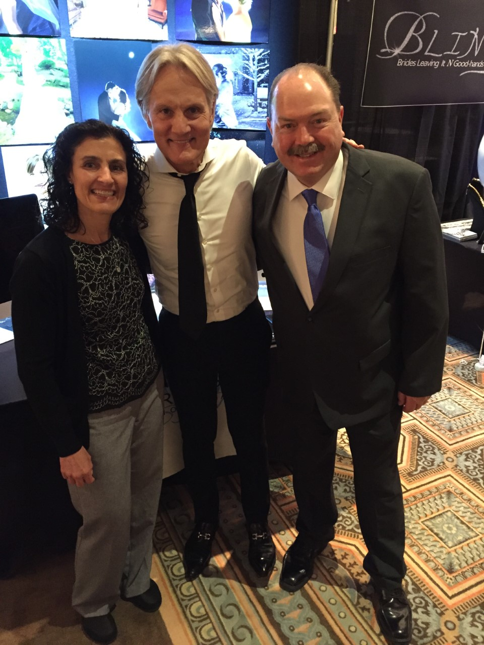 Brett and his wife Debbie with Monte Durham.