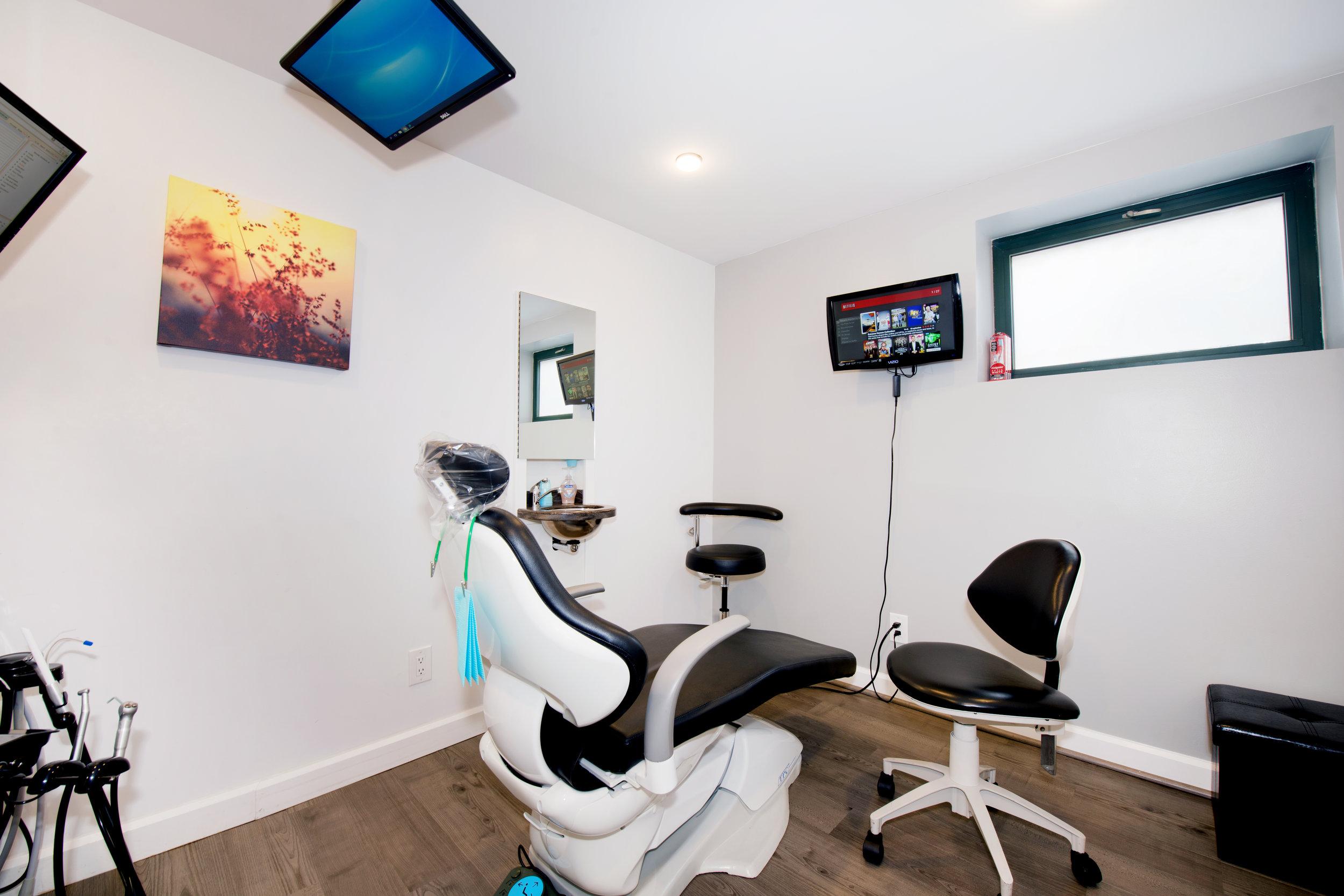 Dental chair space
