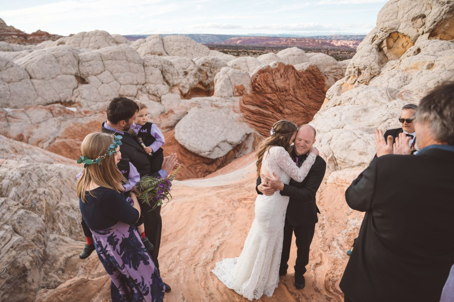 utah-desert-elopement-first-kiss
