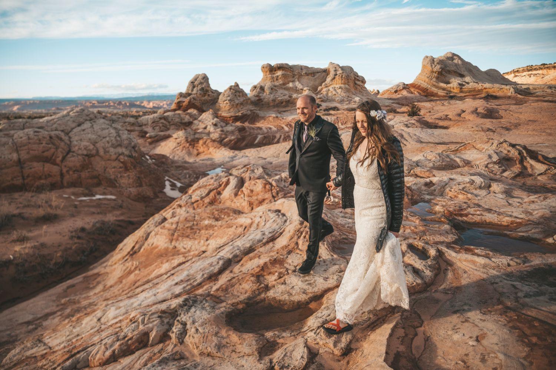 bride-groom-hike-utah-backcountry