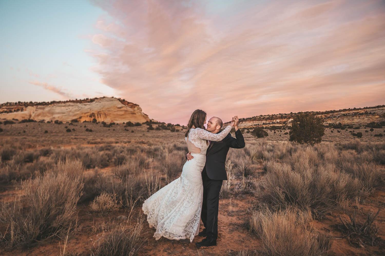 sunset-wedding-utah