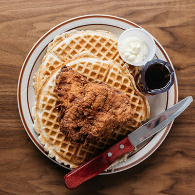 Picture Is From : Fat Chicken and Waffle.