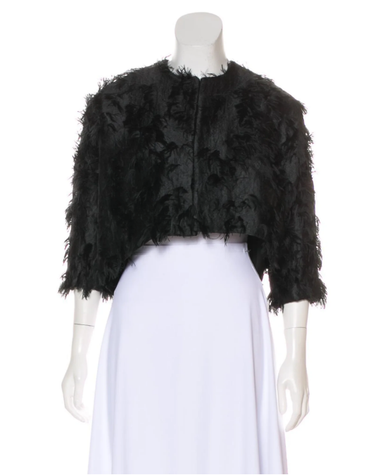 Textured Cropped Jacket $104