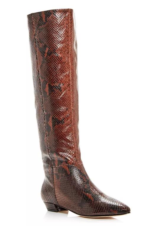 Sigerson Morrison Gareth Snake-Embossed Boots Bloomingdales $416 (w/ sale)
