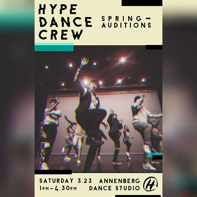 Interested in joining the Hype Fam? Love to dance? Come on out to our spring auditions THIS SATURDAY. We can't wait to see you there!!!