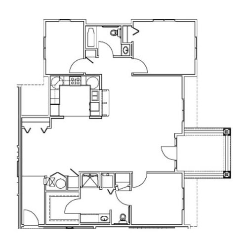 two bedroom two bathroom plus den