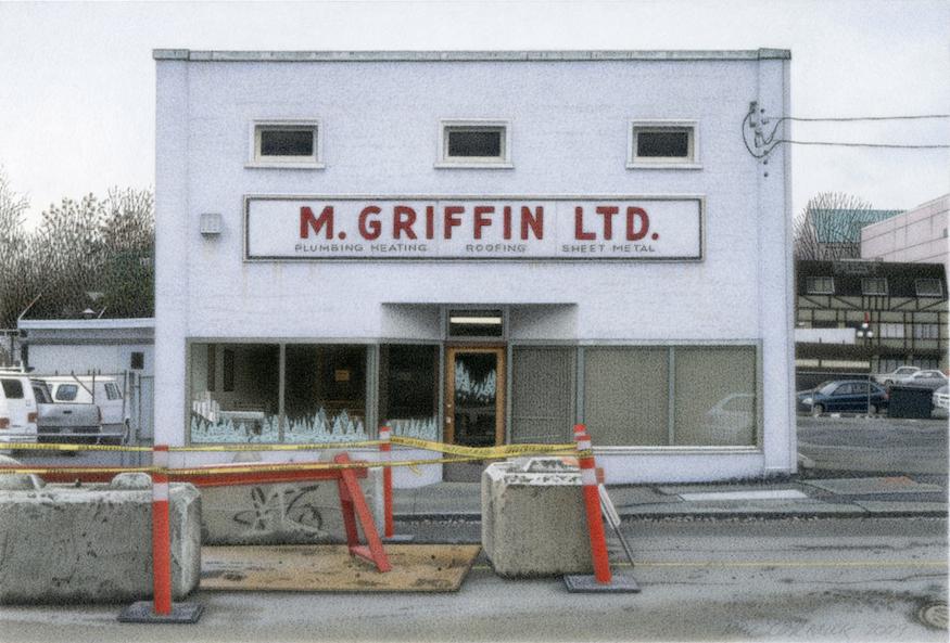 """M. Griffin Ltd. 2009 5.5x8"""" acrylic on board"""