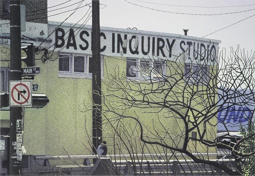 Basic Inquiry Studio 2003 5.5x8″ acrylic on paper