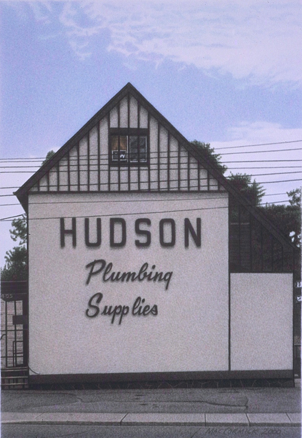 "Hudson Plumbing Supplies 2000 8x5.5"" acrylic on paper"