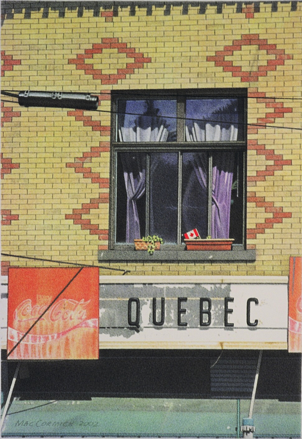 "Quebec 2002 8x5.5"" acrylic on paper"
