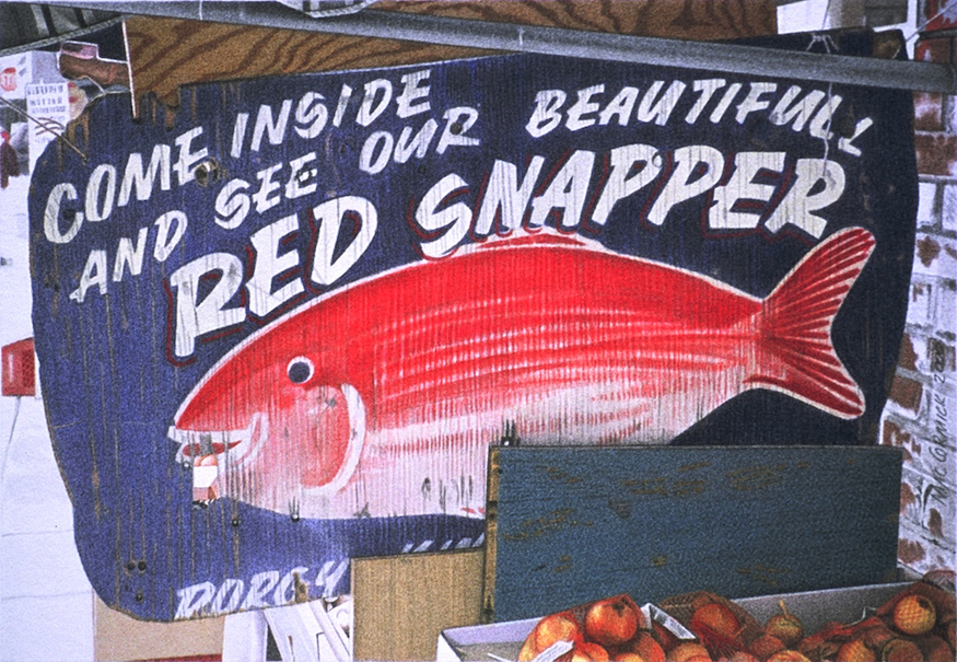 "Red Snapper 2000 5.5x8"" acrylic on paper"