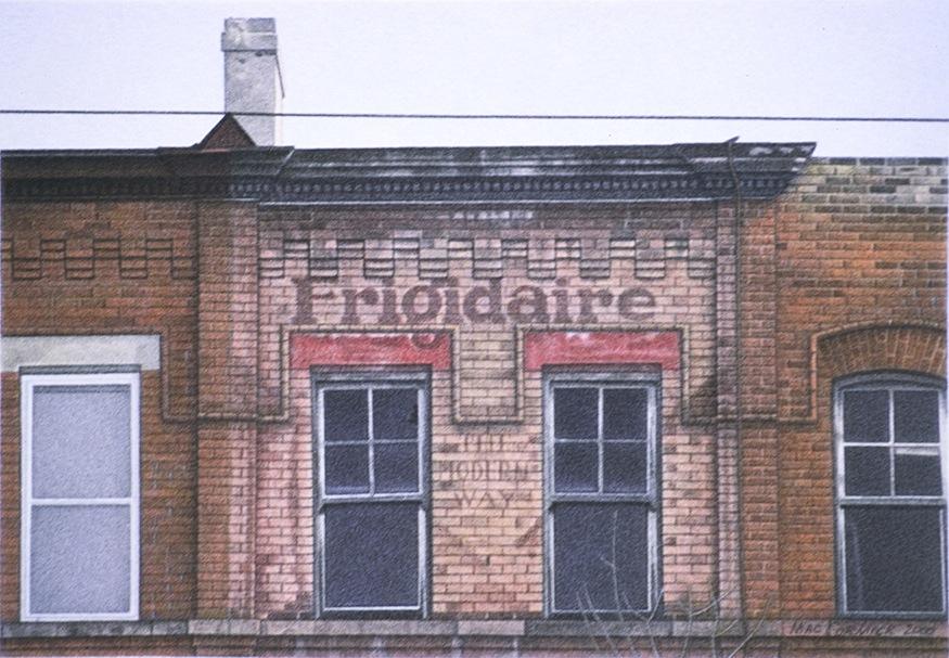 "Frigidaire 2000 5.5x8"" acrylic on paper"