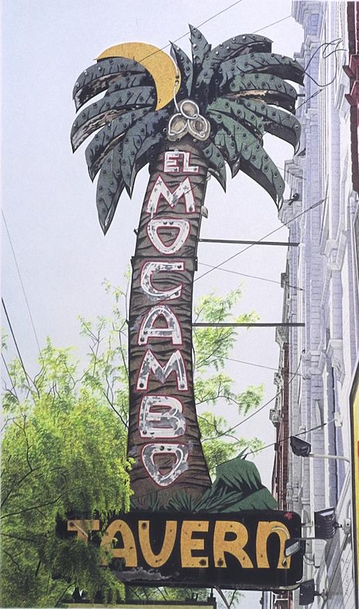 """El Mocambo 1997 19x11.25"""" acrylic on paper"""