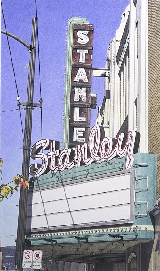 "Stanley Theatre 1997 19x11.25"" acrylic on paper"