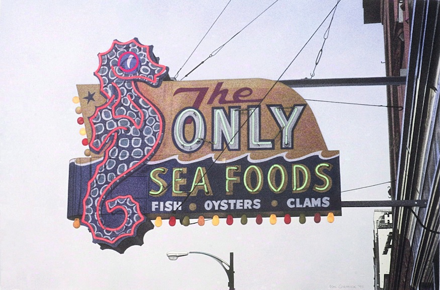 The Only Seafoods 1995 11.25x17 acrylic on paper