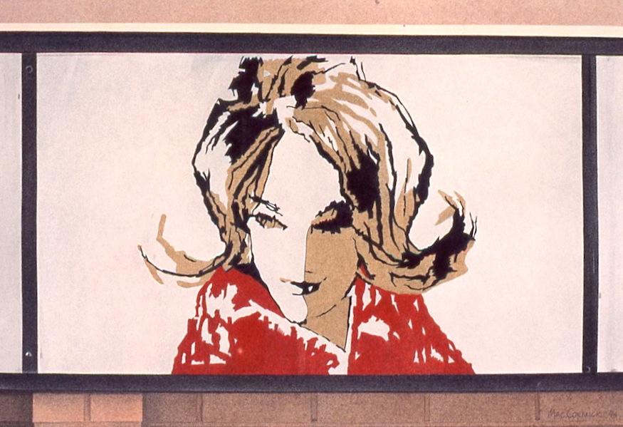 "Ladybird Coiffures 1994 8x12"" acrylic on paper"