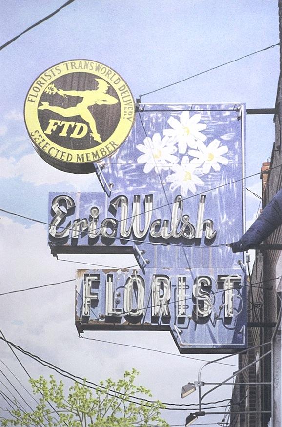 "Eric Walsh Florist 1994 17x11.25"" acrylic on paper"