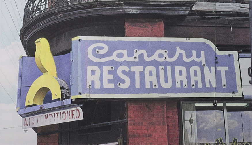 "Canary Restaurant 1994 11x19"" acrylic on paper"