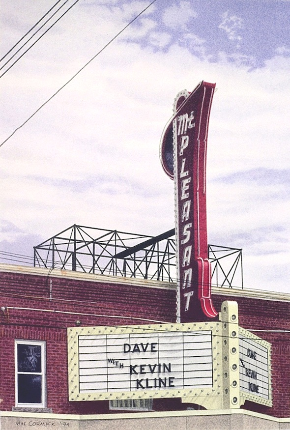 "Mt. Pleasant Theatre 1994 12x8"" acrylic on paper"