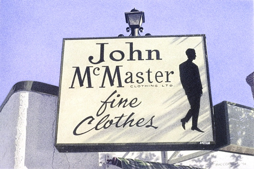 "John McMaster Fine Clothes 1994 8x12"" acrylic on paper"
