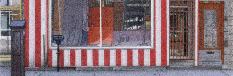 "Detail from Petemar Enterprises, 2011 5.5x8"" acrylic on board"