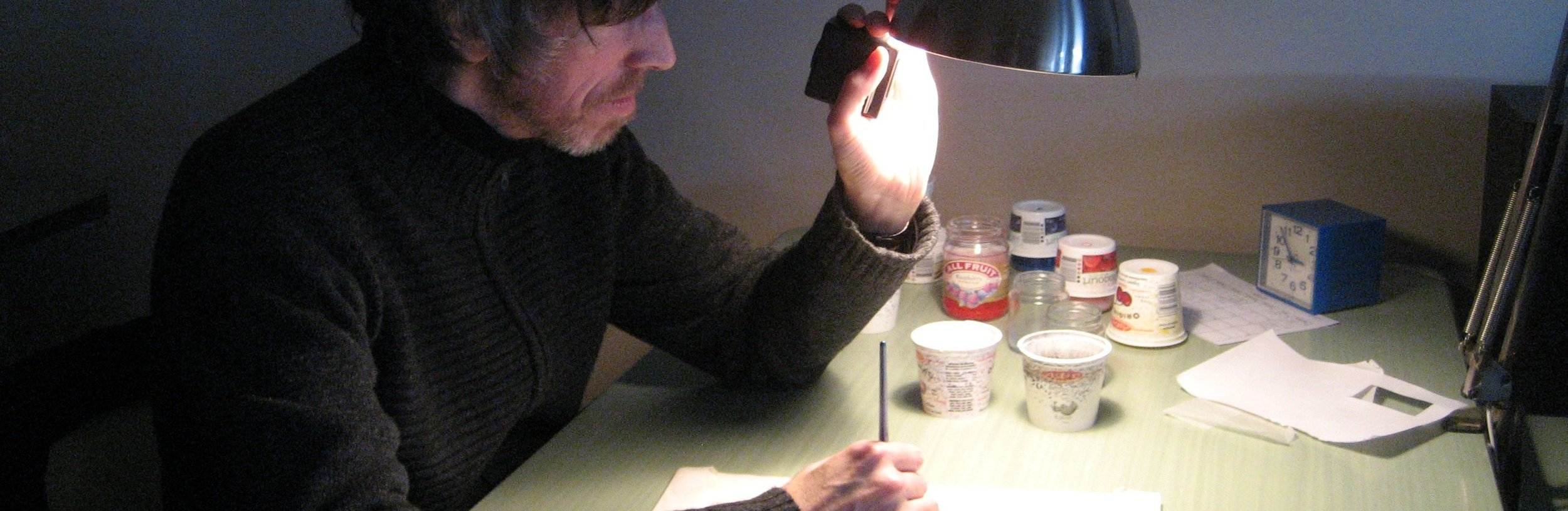 Holding a Slide Viewer, Montreal QC, 2009.