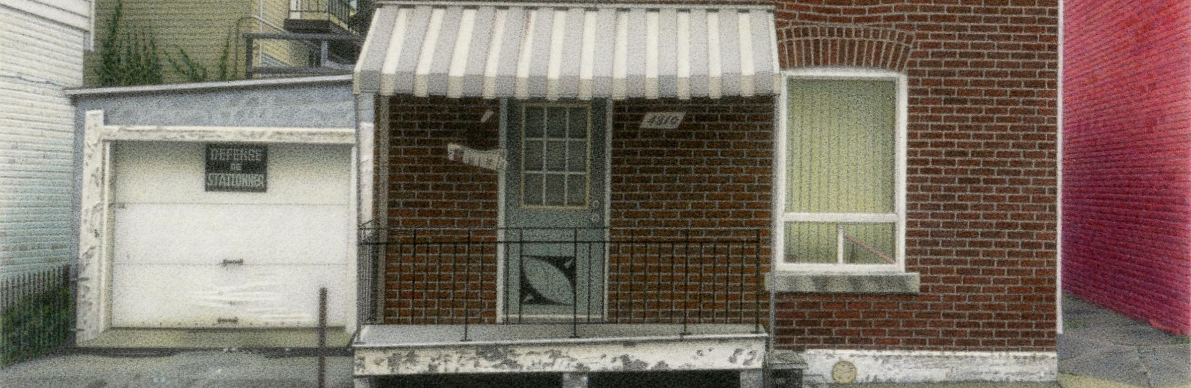 "Detail from 'House on De Brebeuf', 2010, 5.5x8"" acrylic on board."