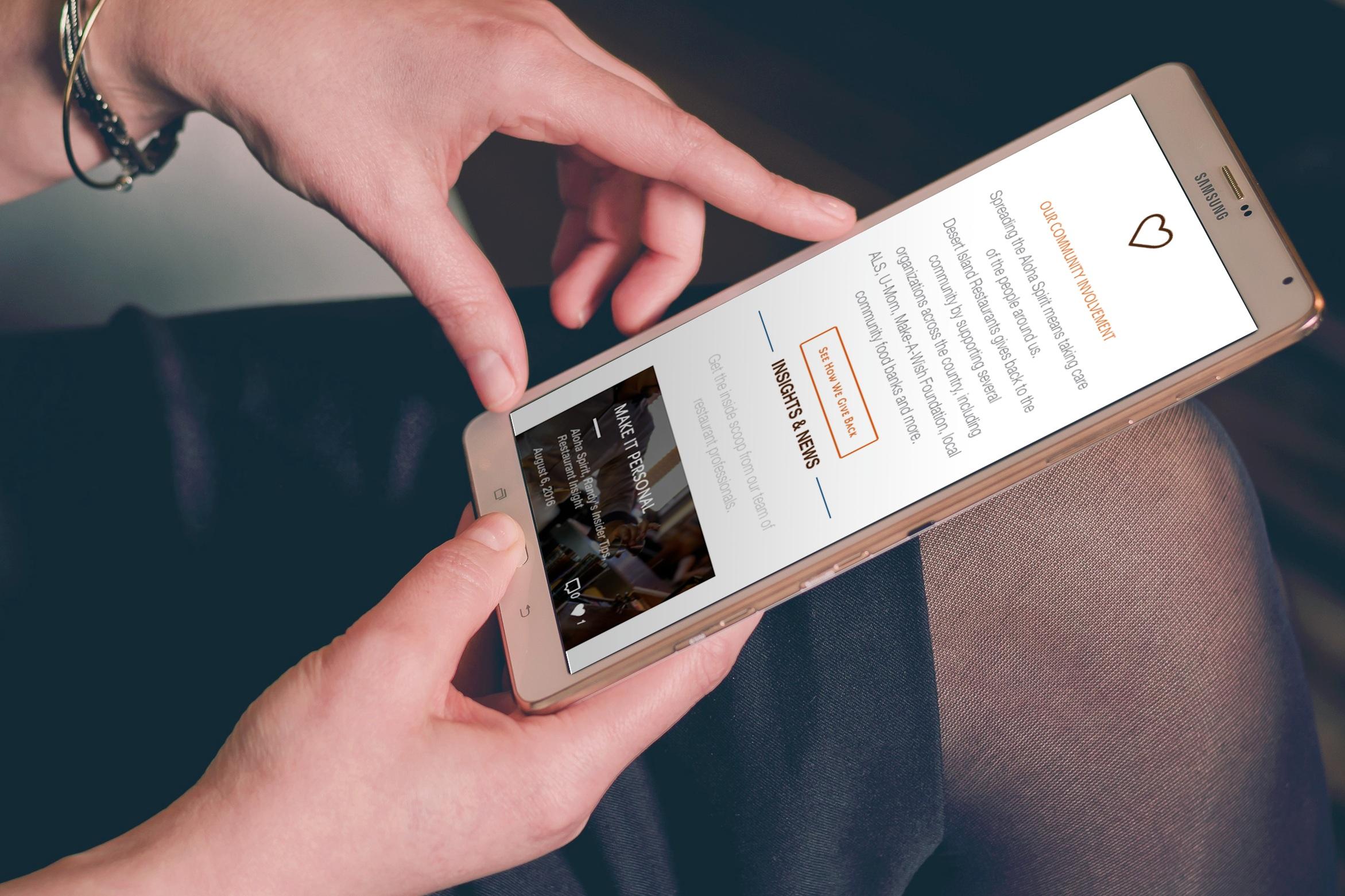 Desert Island Restaurants - Creating an appetizing new website for a national restaurant group