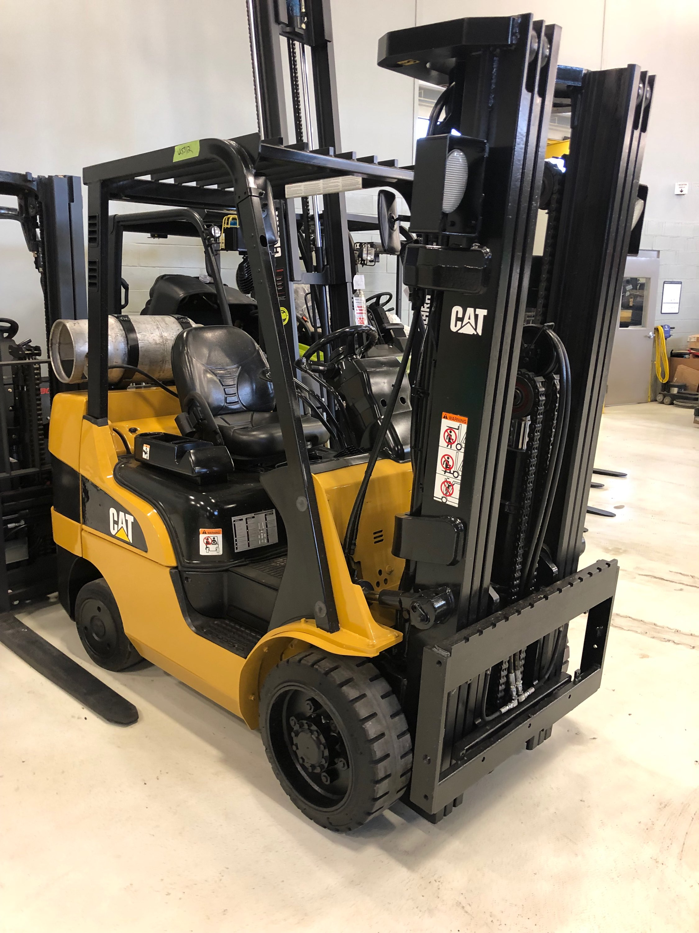 - We found our new forklift! She's a beauty in caution-yellow.