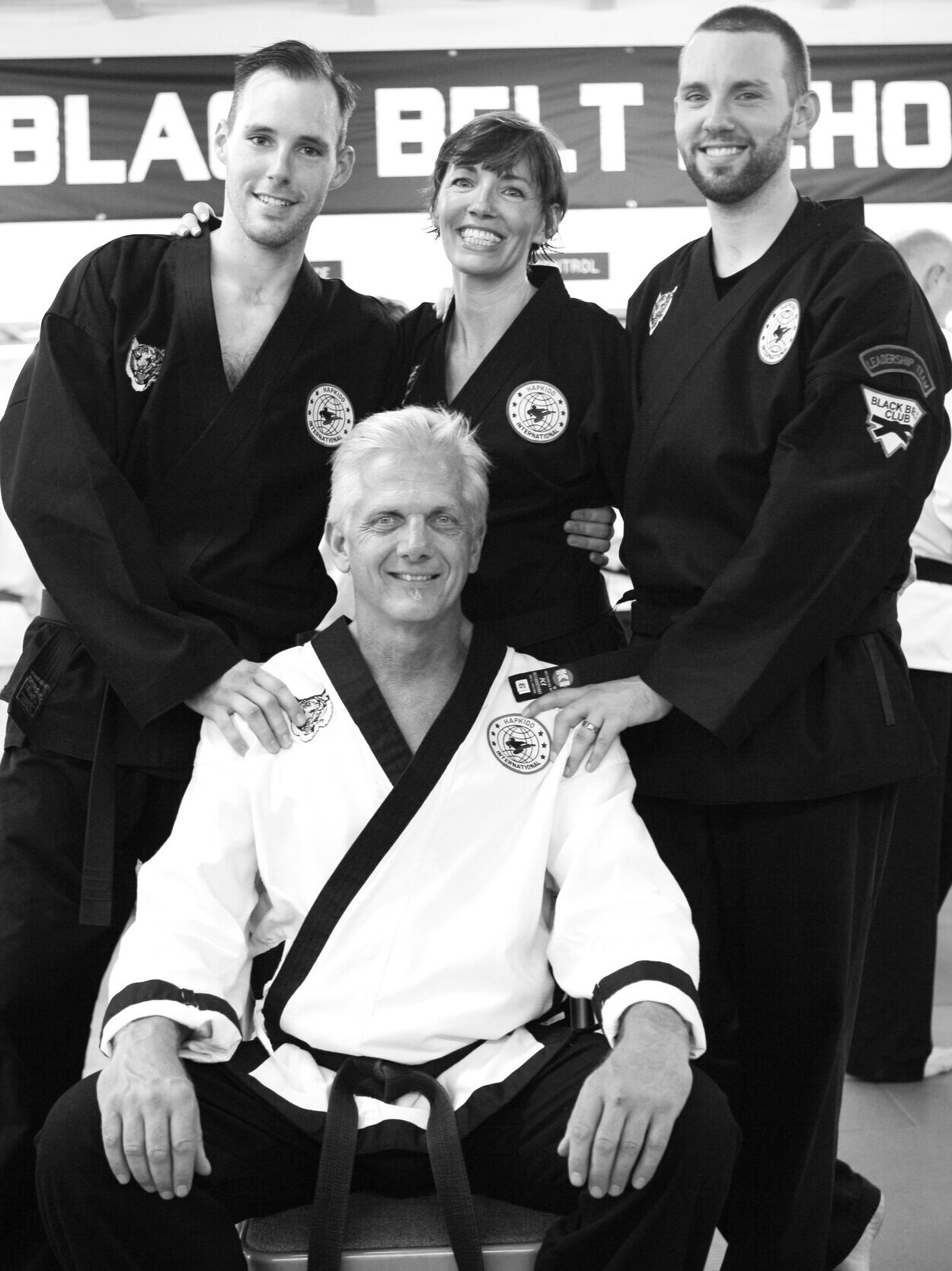 The founding MAFF Family: Master Garret, Master Mel, Master Austin, and Grandmaster Dave. Circa 2009.