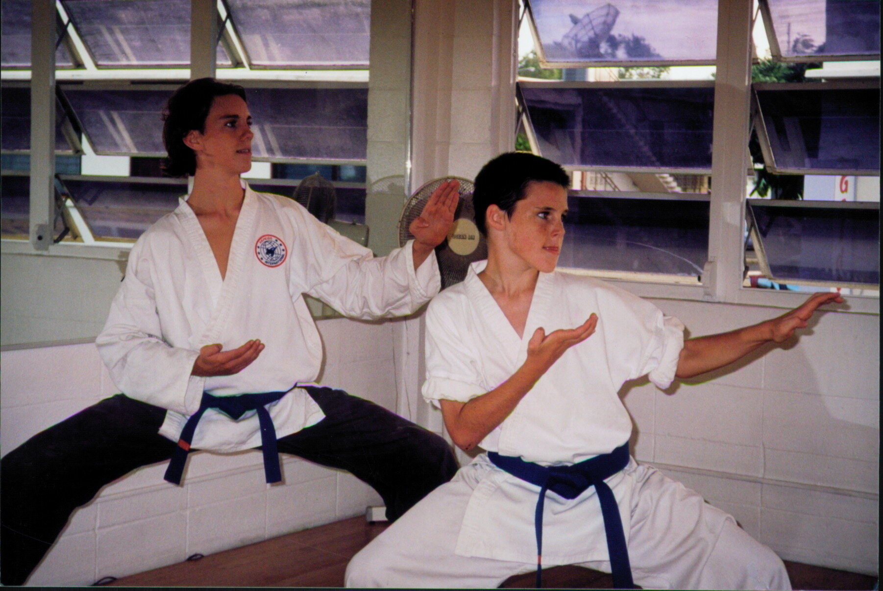 Austin & Garret in the Honolulu Dojo. Circa 1997.