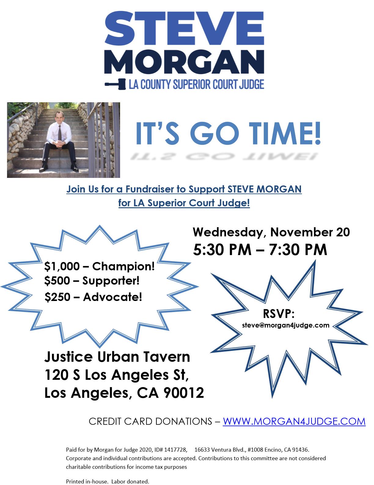 News Events Steve Morgan For La County Superior Court