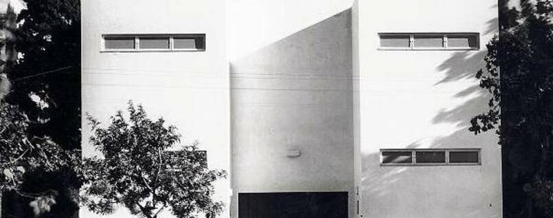 Tel Aviv Museum of Art, February 1936 (the museum's first home). PHOTO: MEIR DIZENGOFF'S PERSONAL COLLECTION, © ERETZ-ISRAEL MUSEUM, TEL AVIV