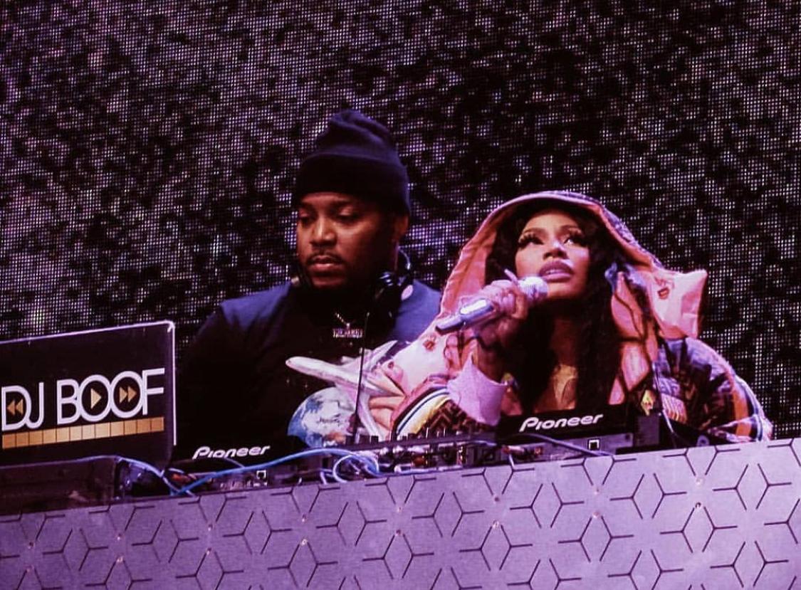DJ Boof with Nicki Minaj. -