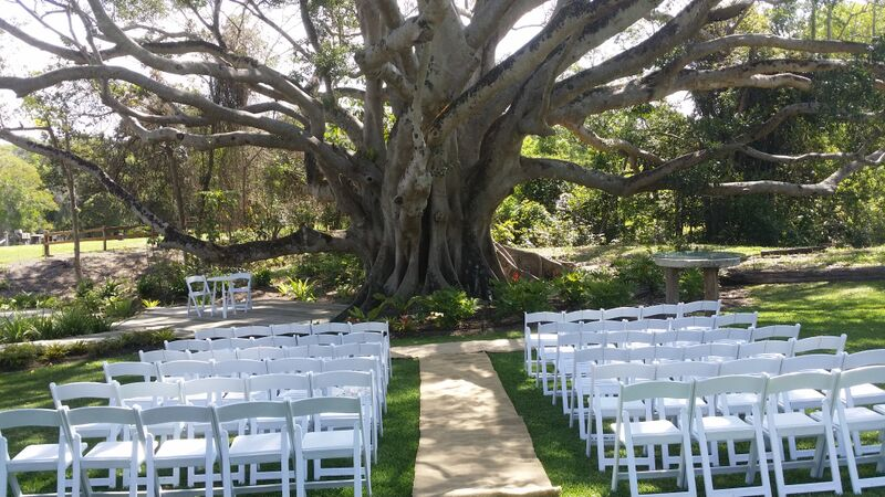 outdoor wedding set up.
