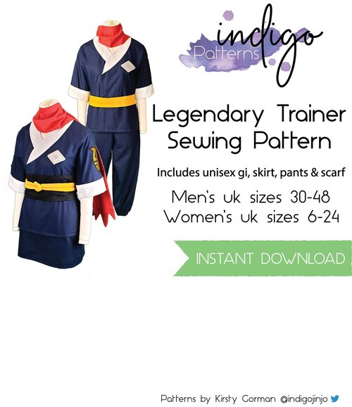 Etsy Product Thumbnail for Legendary Trainer Sewing Pattern