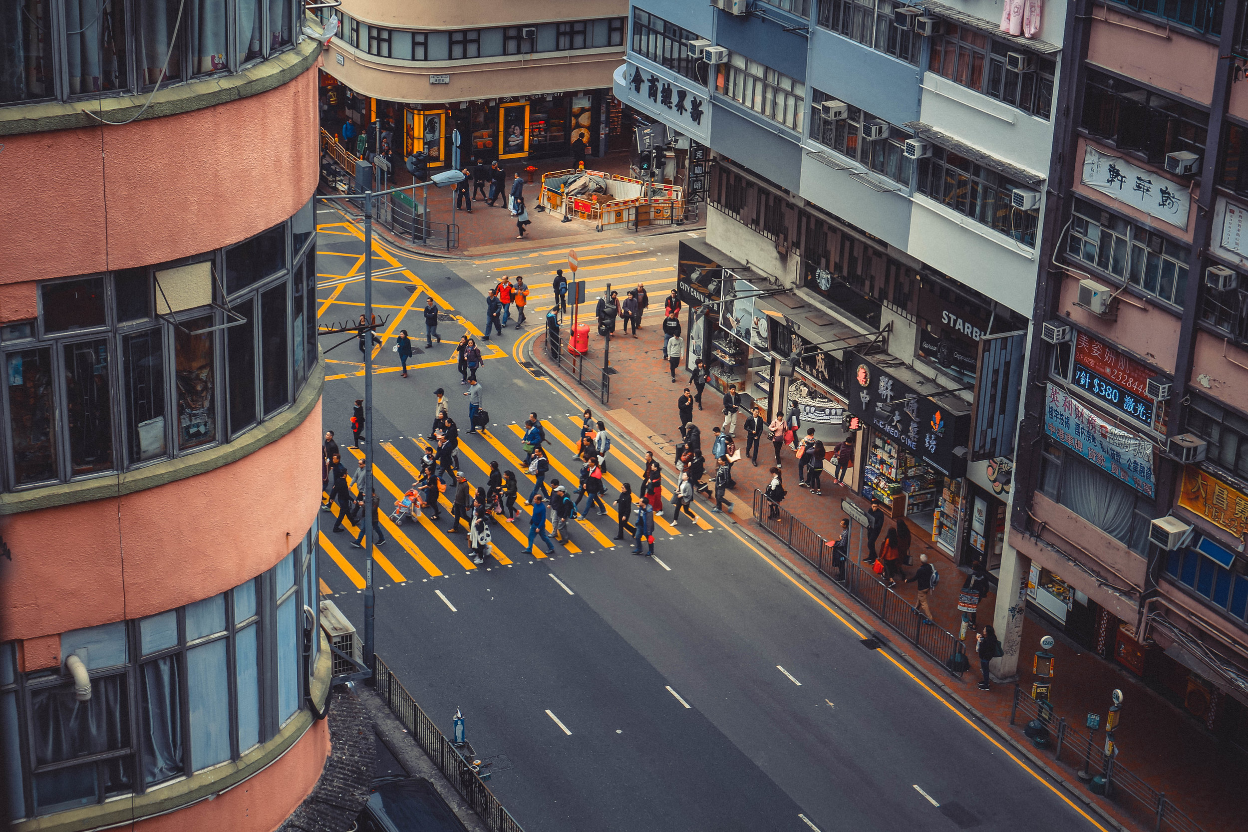 Busy streets of Hong Kong.    Source:       Unsplash