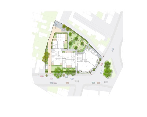 Goldsmiths Arms submitted for planning - PLACE provided the landscape design for the proposed residential development of the former Goldsmiths Arms public house site in Acton. The design comprised of a 'spill-out' space for commercial units, private gardens and a communal garden for residents featuring a smaller quiet recreational space and a larger active play space. Edible plant species made up of traditional pub tastes were included throughout the scheme to reflect the site's former use. The scheme has now been submitted for planning consent.February 2019