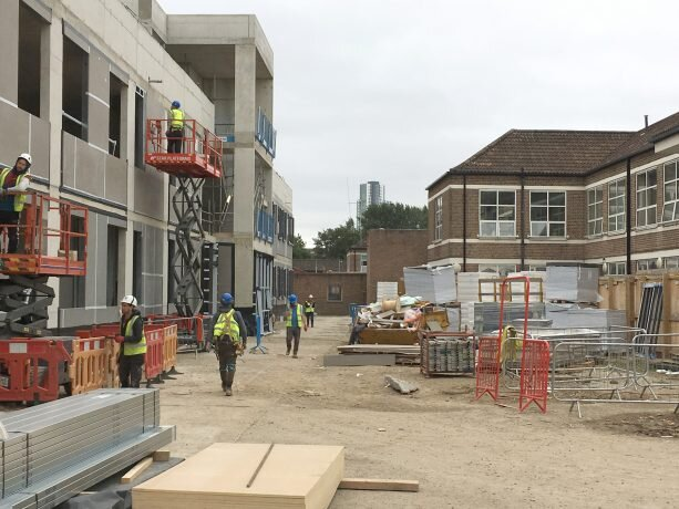 St Ann's Hospital taking shape - St Ann's Hospital in Tottenham is beginning to take shape. Construction started at the beginning of the year and is due to complete in the summer of 2020. The building will accommodate four mental health wards over two storeys.September 2019
