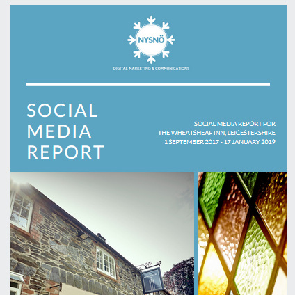 Monthly bespoke Social Media Reports