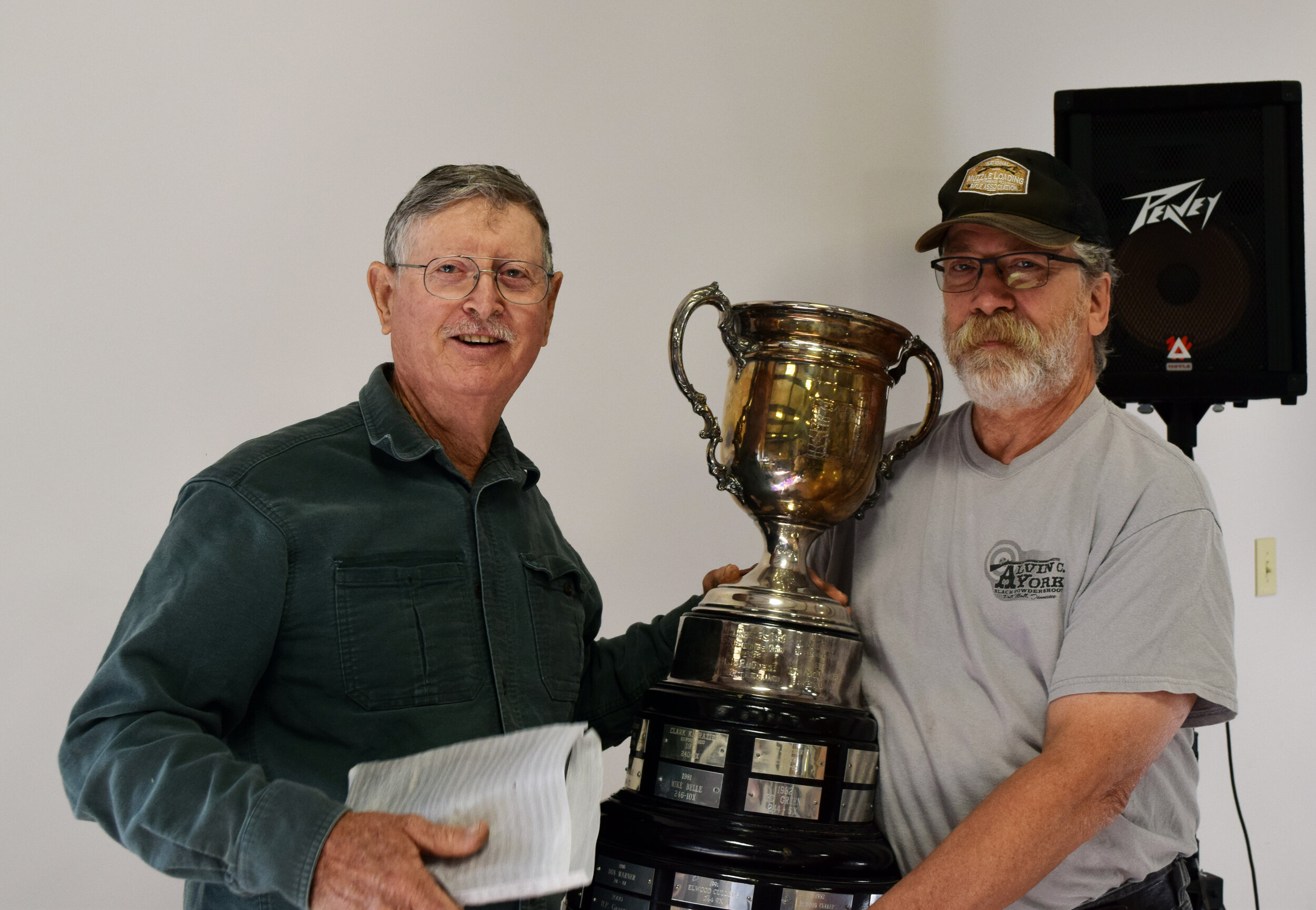 J.L. Hargis - Aggregate A - Unlimited Rifle Championship Winner with Rifle Committee Member Mark Donaldson