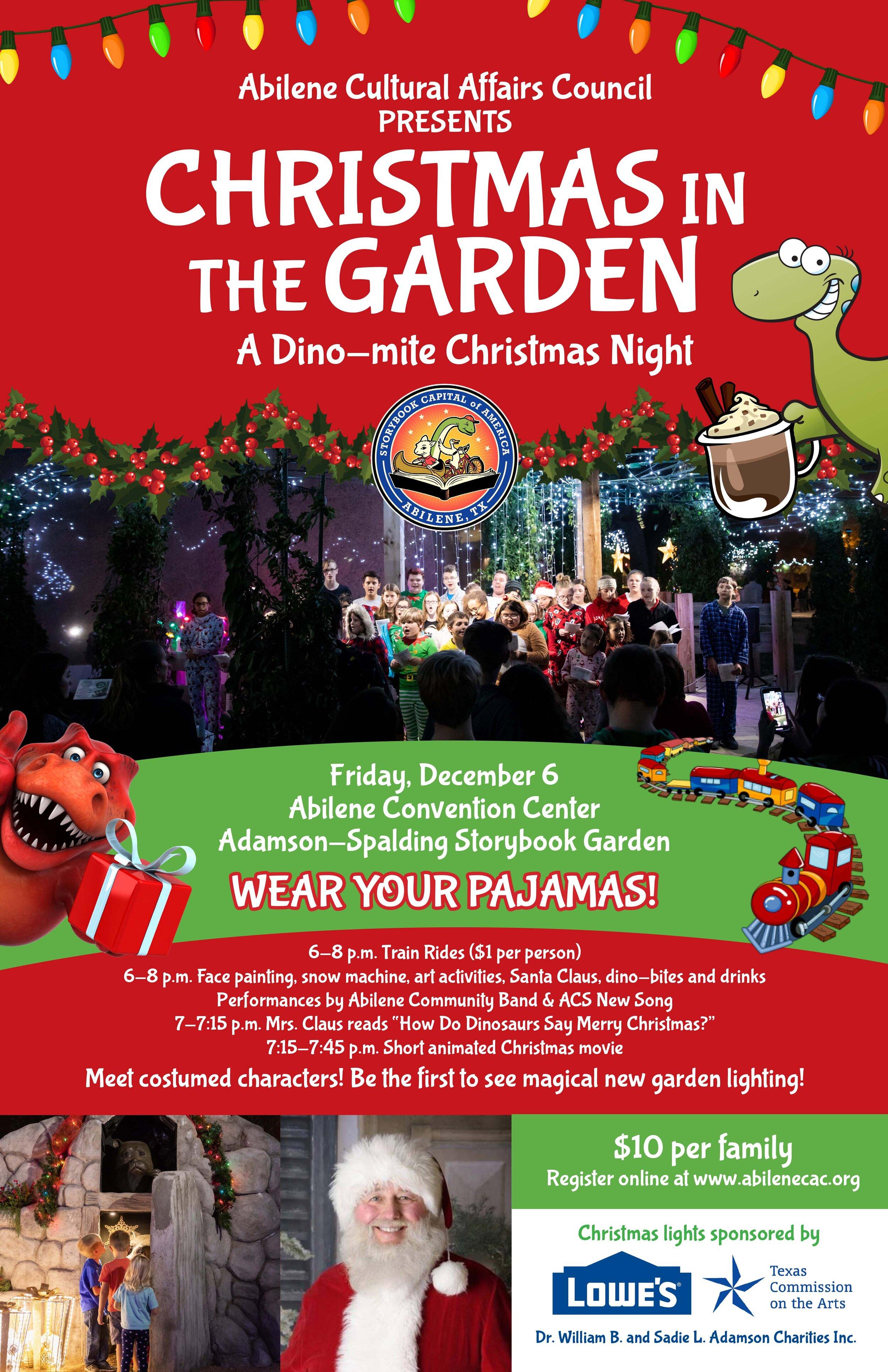 Christmas In The Garden Tickets On Sale Abilene Cultural Affairs Council