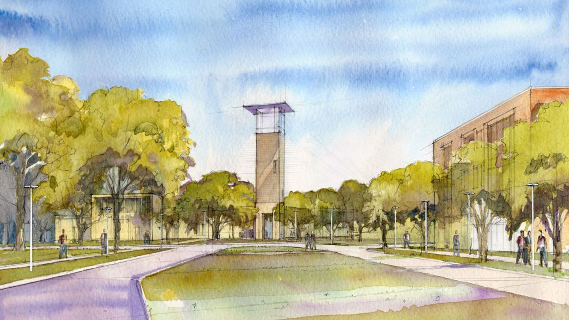 Lamar University Campus Master Plan, Beaumont, TX  Mixed Use Private Public Partnership | Student Life | Walkability