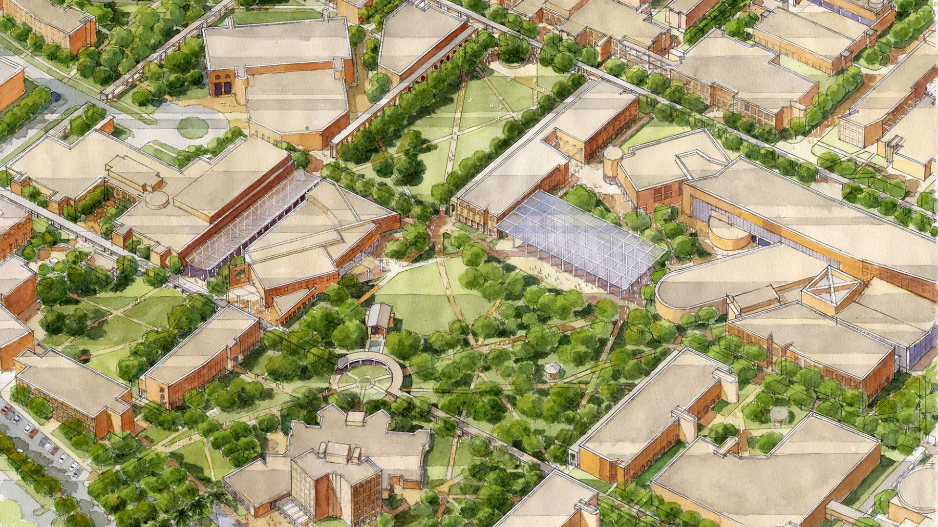 Campus Master Plan, The University of Texas Pan American   Student Life | Open Space | Walkability