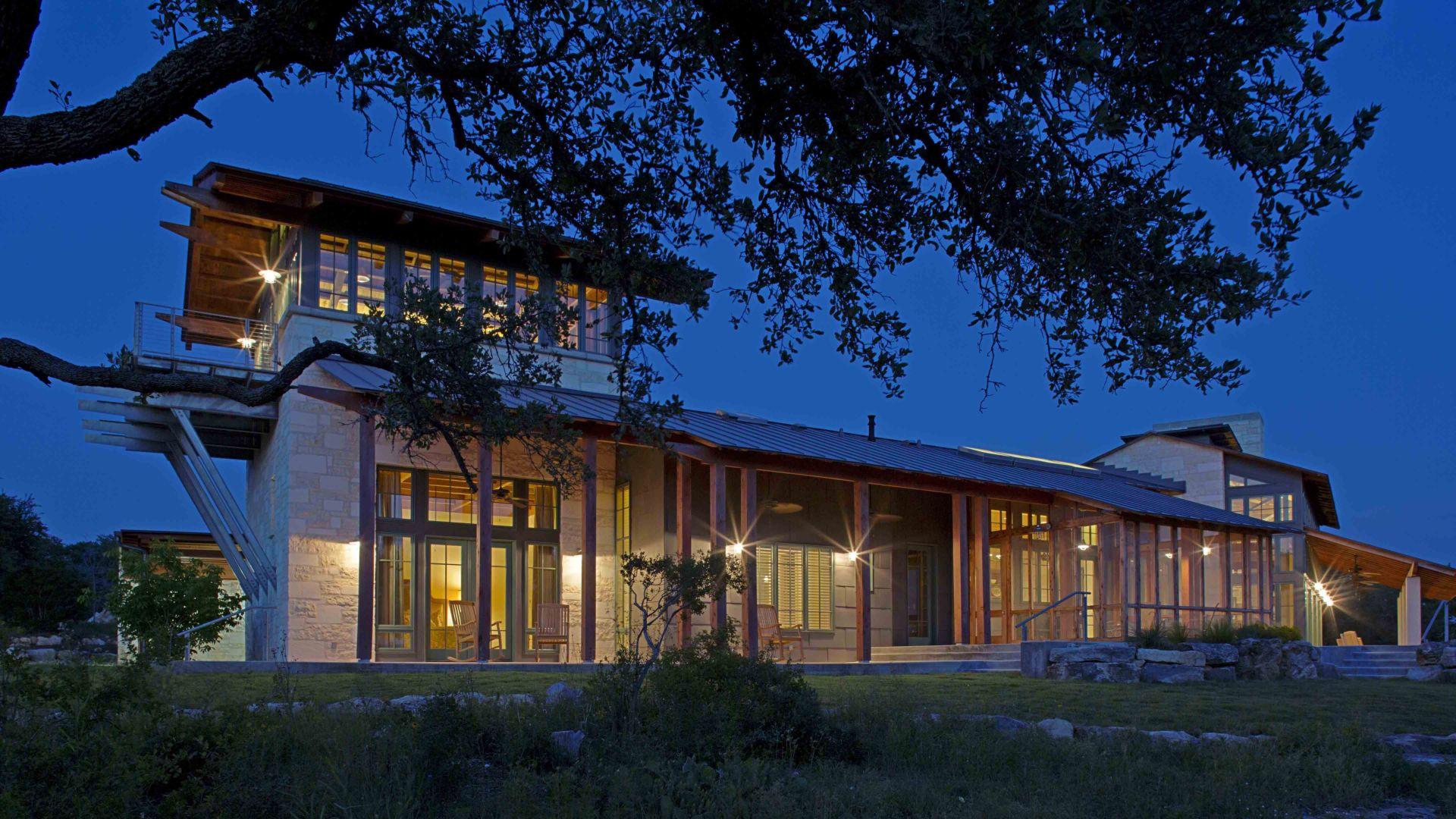 Pedernales River Residence, Blanco County, TX   Organic | Contextual | Vernacular Materials