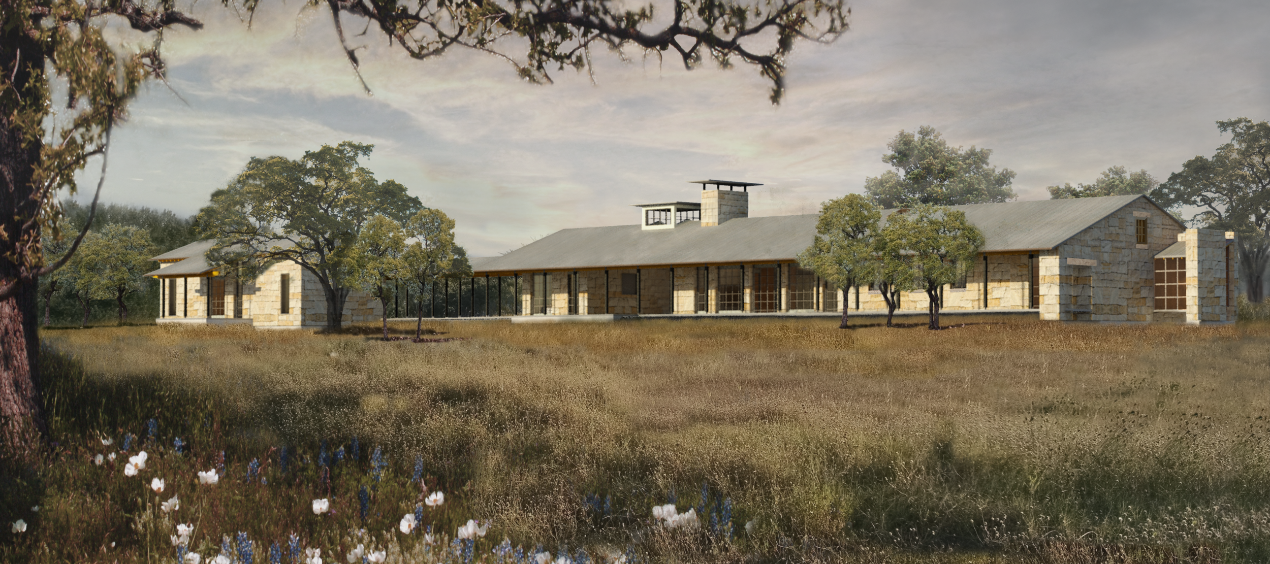 The Guadalupe River House, Kendall County, TX  Native Materials | Sustainability | Connectivity to Nature | Contextual