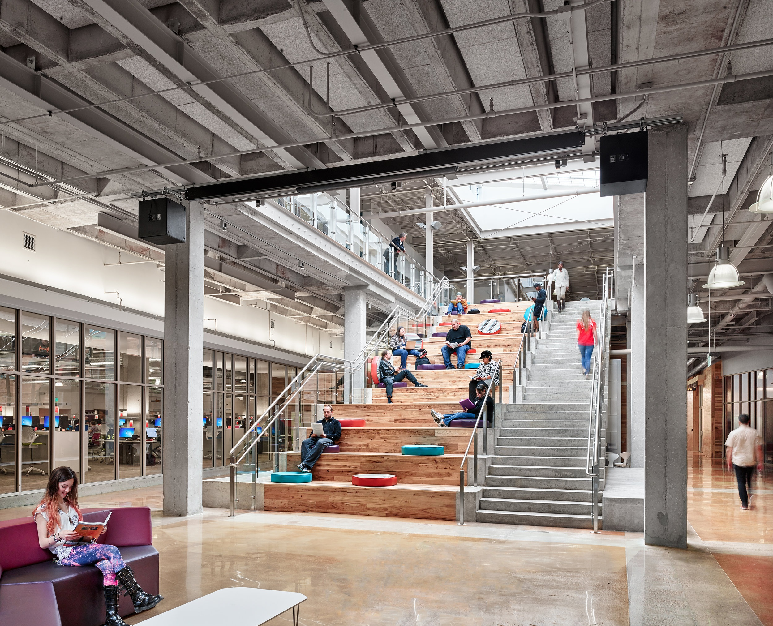 Highland Campus Phase I, Austin Community College   Adaptive Reuse | Student Life | Social Stair | ACCelerator | Sustainability | Breathing Life into a Dead Mall